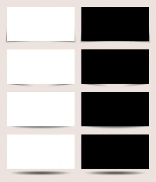 Czarne i białe panele projekcyjne Darmowe Psd