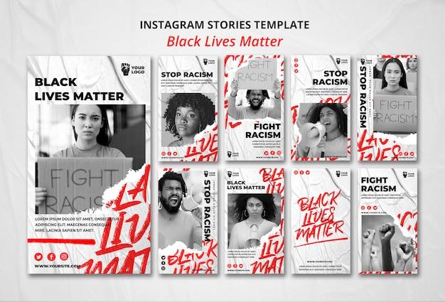 Czarne życie Ma Znaczenie Instagramowe Historie Darmowe Psd