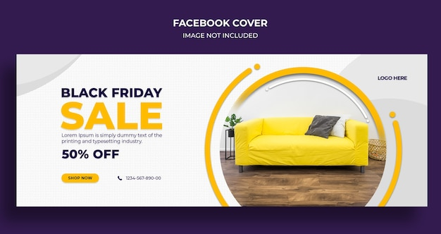 Czarny Piątek Sprzedaż Okładki Mediów Społecznościowych I Szablon Banera Internetowego Premium Psd