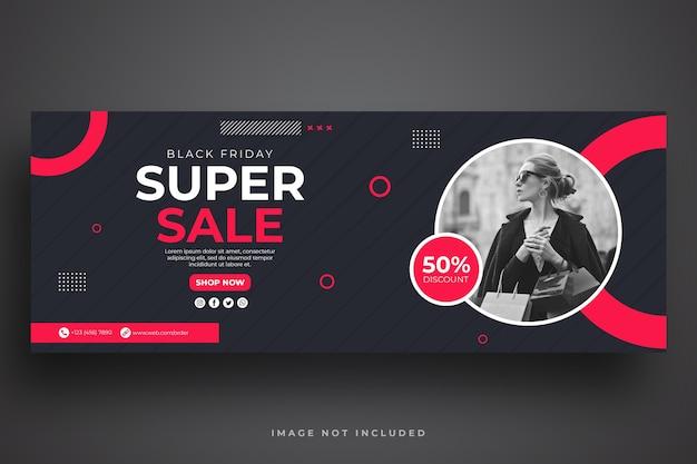 Czarny Piątek Sprzedaż Szablon Banera Internetowego Premium Psd