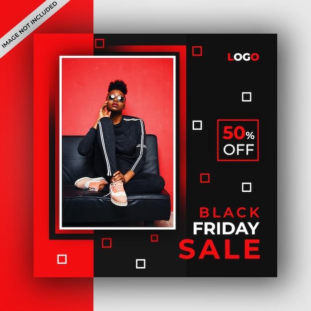 Czarny piątek sprzedaż w mediach społecznościowych Premium Psd