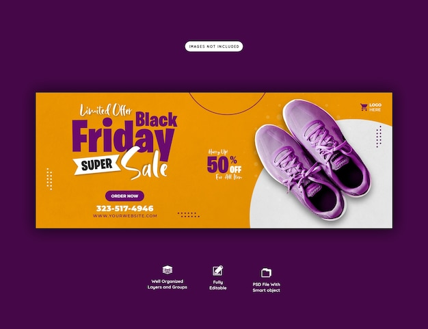 Czarny Piątek Super Sprzedaż Szablon Transparentu Okładki Facebooka Darmowe Psd