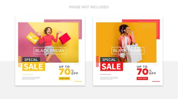 Czarny Piątek Szablon Postu W Mediach Społecznościowych Premium Psd