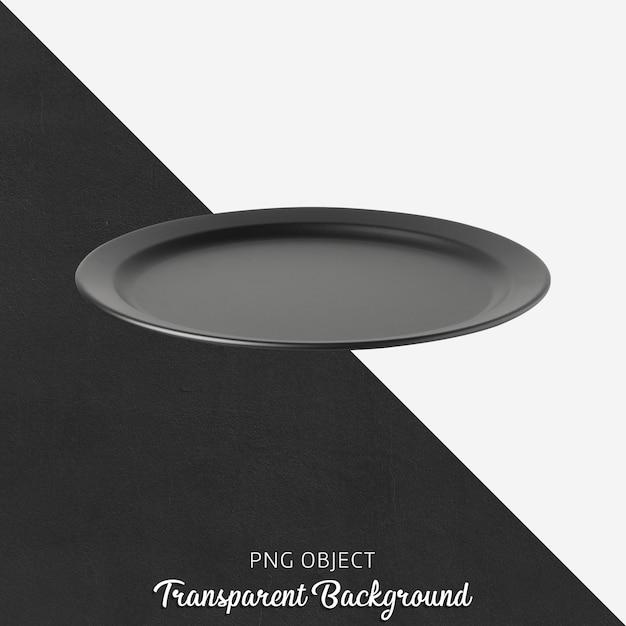 Czarny talerz na przezroczystym tle Premium Psd