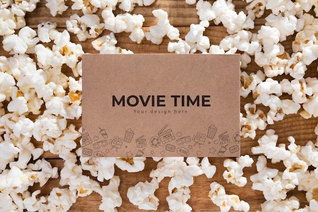 Czas Filmu Z Widokiem Z Góry Z Koncepcją Popcornu Darmowe Psd