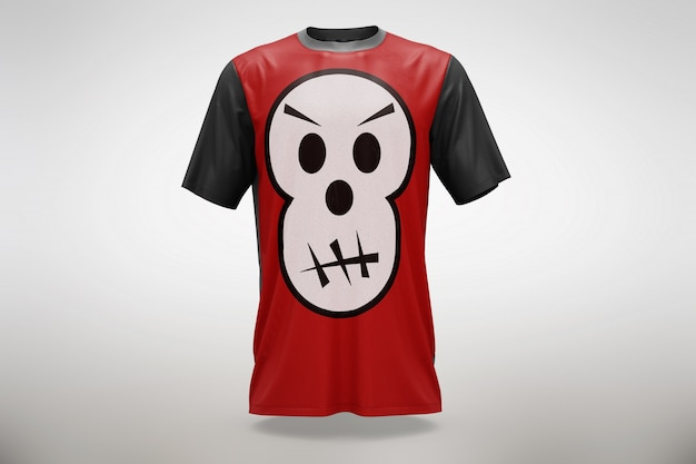Czerwona koszulka makieta Darmowe Psd