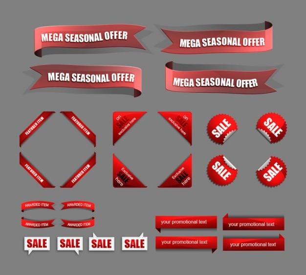 Czerwone Sprzedaży I Ikony Zniżki Darmowe Psd