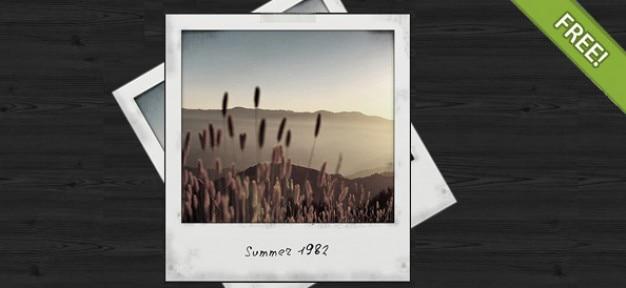 Darmowe psd polaroid photo frame Darmowe Psd
