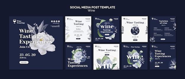 Degustacja Wina W Mediach Społecznościowych Darmowe Psd