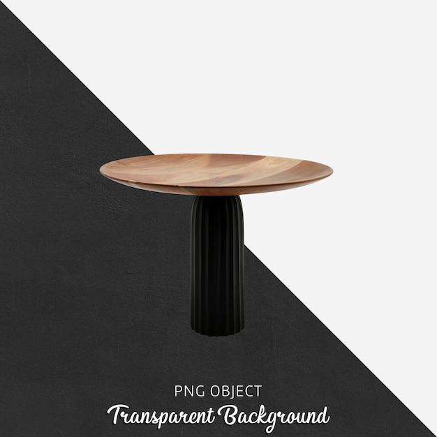 Dekoracyjny drewniany talerz do serwowania na przezroczystym tle Premium Psd