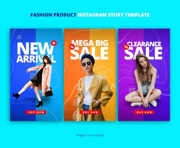 Duo kolory szablon historii instagram z ornamentem fali marmurowej Premium Psd