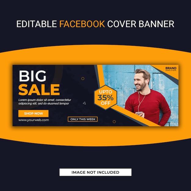 Duża Sprzedaż Facebook Social Media Szablon Transparent Premium Psd