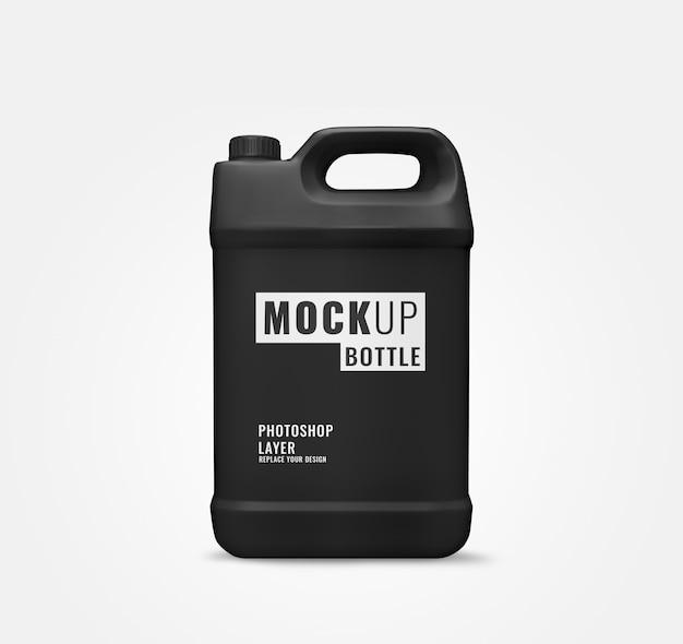Duży Czarny Galon Butelki Makiety Płynów Premium Psd