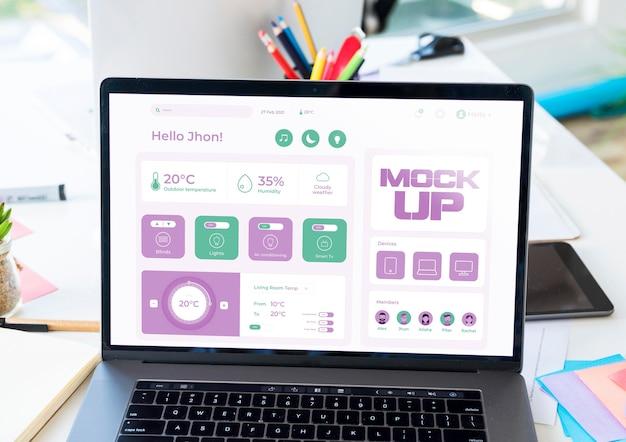 Duży Kąt Makiety Laptopa Biznesowego Darmowe Psd
