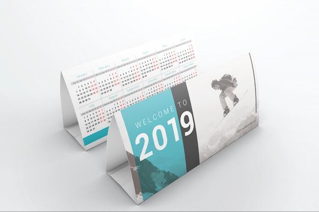 Dwie makiety kalendarzy Premium Psd