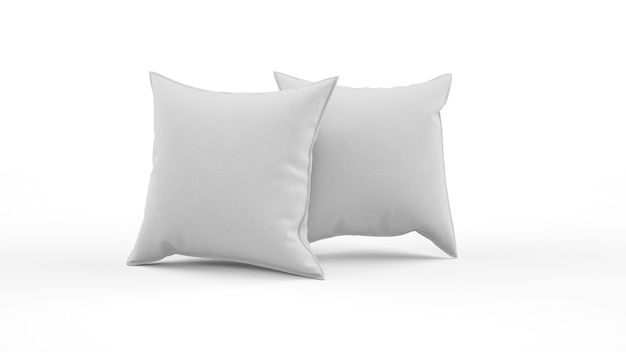 Dwie Poduszki W Szarym Kolorze Na Białym Tle Darmowe Psd