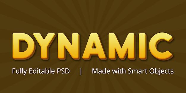 Dynamiczny Edytowalny Efekt Stylu Tekstu Psd Premium Psd