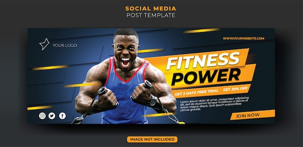 Dynamiczny Niebieski Trening Fitness Siłownia Instagram Baner Społecznościowy I Szablon Ulotki Premium Psd