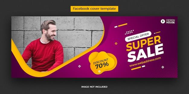 Dynamiczny Super Szablon Na Okładkę Na Facebooku Premium Psd