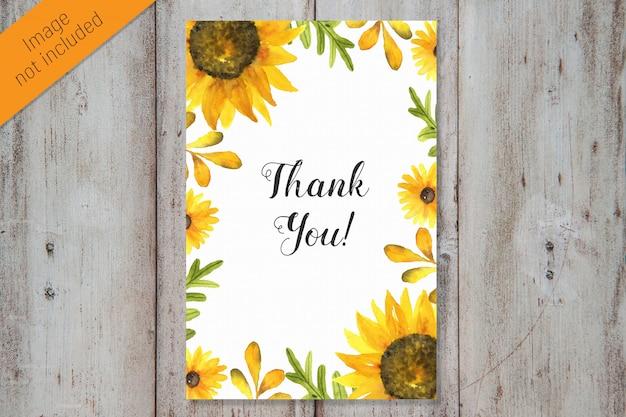 Dziękuję szablon karty akwarela Premium Psd