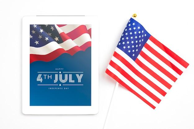 Dzień Niepodległości W Stanach Zjednoczonych Ameryki. 4 Lipca Darmowe Psd