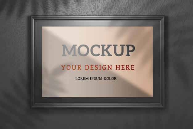 Edytowalna Makieta Psd Z Dużą Szeroką Czarną Ramką Na Czarno Premium Psd