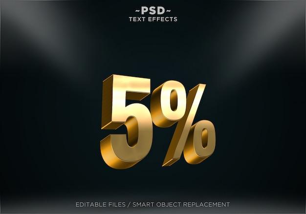 Edytowalne Efekty Tekstowe W Stylu Złotej Rabatu Premium Psd