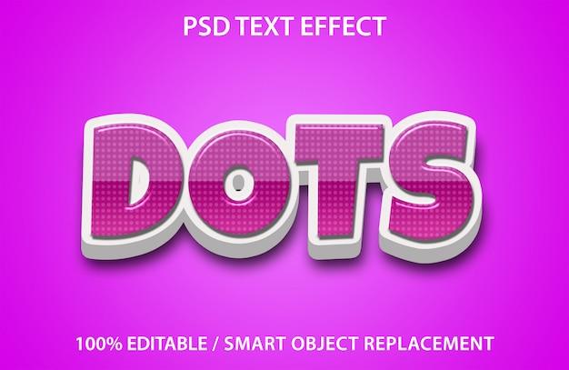 Edytowalne Kropki Efektu Tekstu Premium Premium Psd
