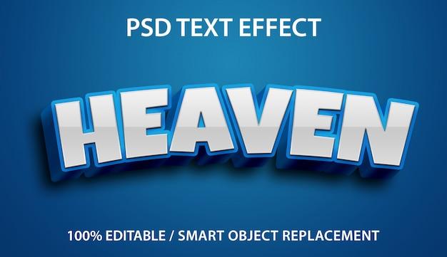 Edytowalny Efekt Tekstowy Blue Heaven Premium Premium Psd