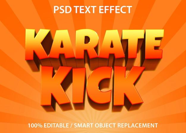 Edytowalny Efekt Tekstowy Karate Kick Premium Premium Psd