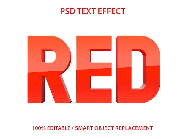 Edytowalny Efekt Tekstowy Red Premium Premium Psd