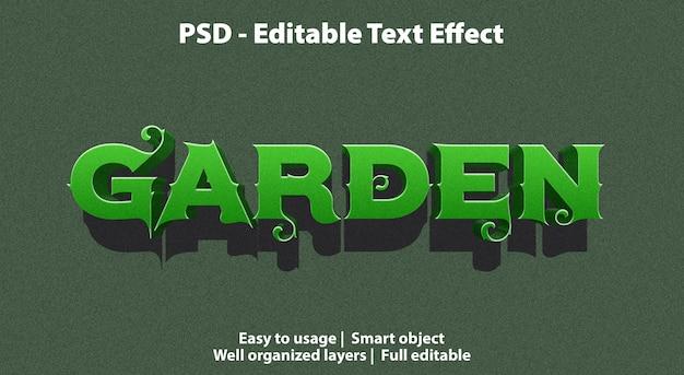 Edytowalny Ogród Efektów Tekstowych Premium Psd