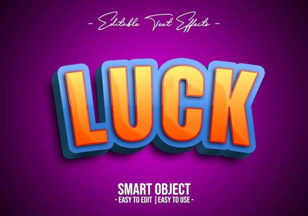 Efekt 3d-luck-text-style-style Premium Psd