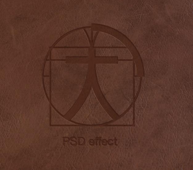 Efekt Logo Na Skórzanej Makiecie Darmowe Psd