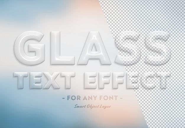 Efekt przezroczystego szkła Premium Psd