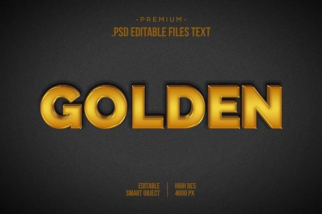 Efekt Psd Złoty, Ustaw Elegancki Abstrakcyjny Piękny Efekt Tekstowy, Styl Tekstu 3d Premium Psd