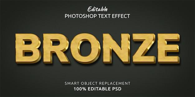 Efekt Stylu Brązowego Tekstu Premium Psd