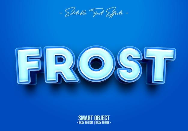 Efekt Stylu Tekstu Frost Darmowe Psd