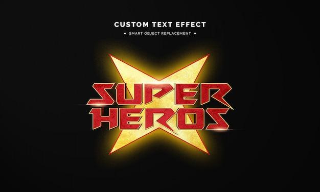 Efekt Stylu Tekstu Superbohatera 3d Premium Psd