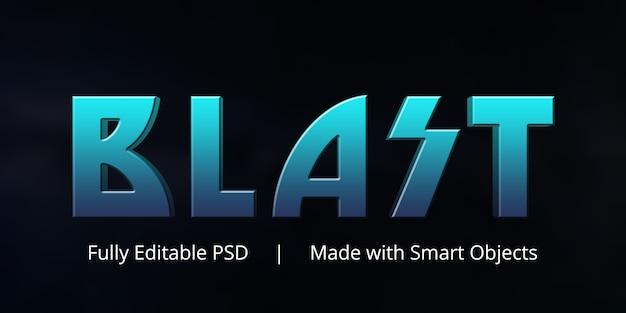 Efekt stylu tekstu wybuchowego Premium Psd