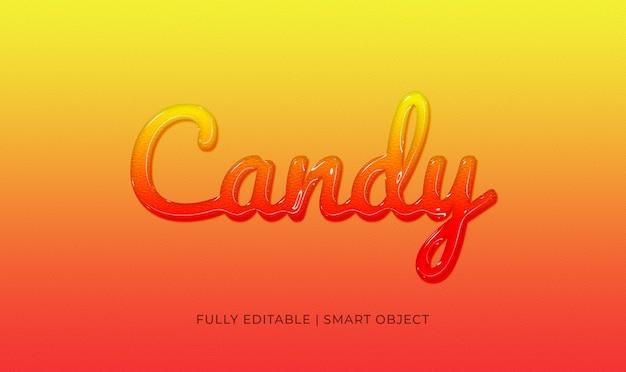 Efekt tekstowy cukierków 3d Premium Psd