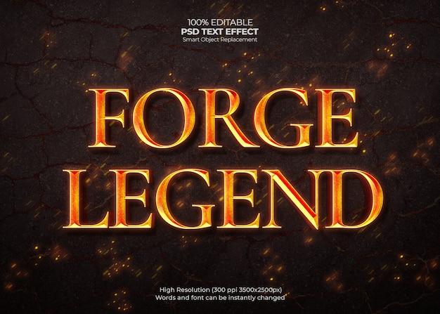 Efekt Tekstowy Forge Legend Darmowe Psd