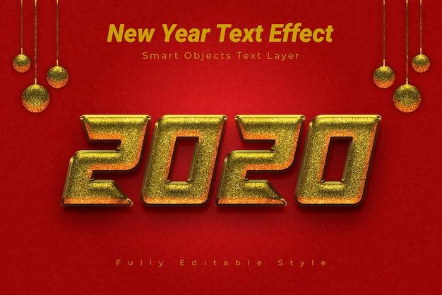Efekt Tekstowy Nowego Roku Premium Psd