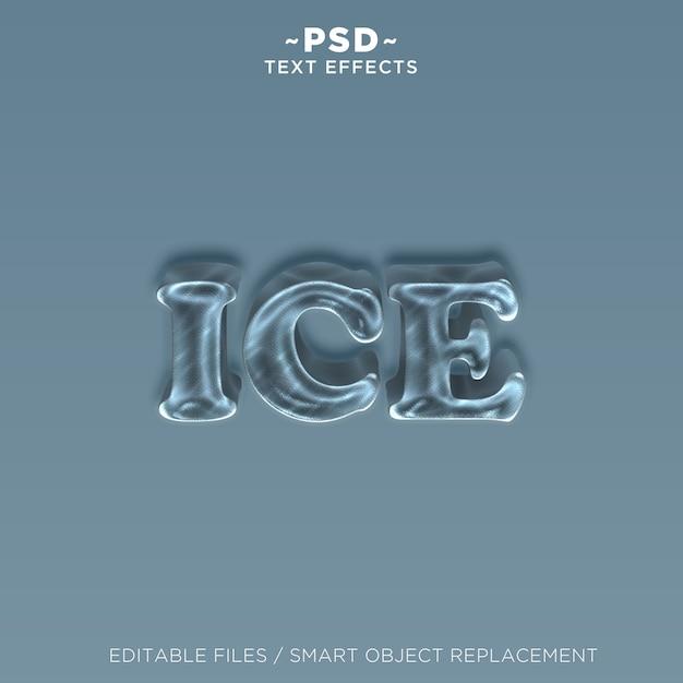 Efekt Tekstu 3d Ice Premium Psd