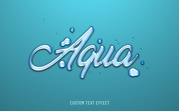 Efekt Tekstu Wodnego Aqua 3d Premium Psd