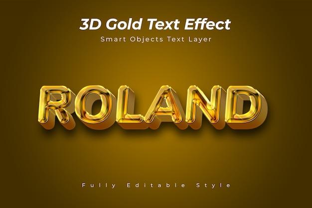 Efekt złotego tekstu 3d Premium Psd