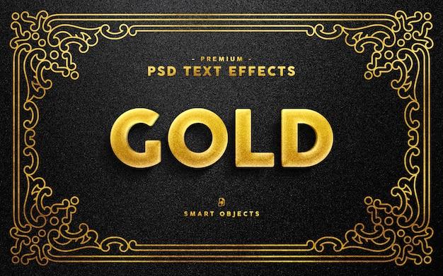 Efekt złotego tekstu Premium Psd