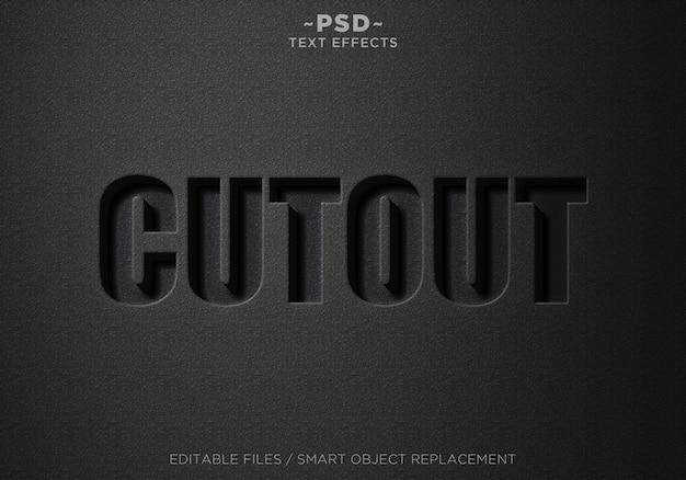 Efekty Czarnego Wycinania 3d Tekst Edytowalny Premium Psd