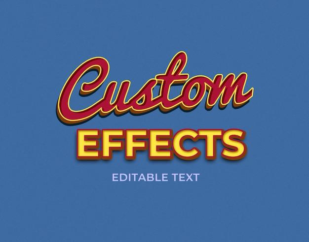 Efekty niestandardowe, efekty tekstowe 3d premium psd Premium Psd