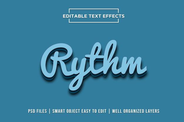 Efekty tekstowe rytmu Premium Psd